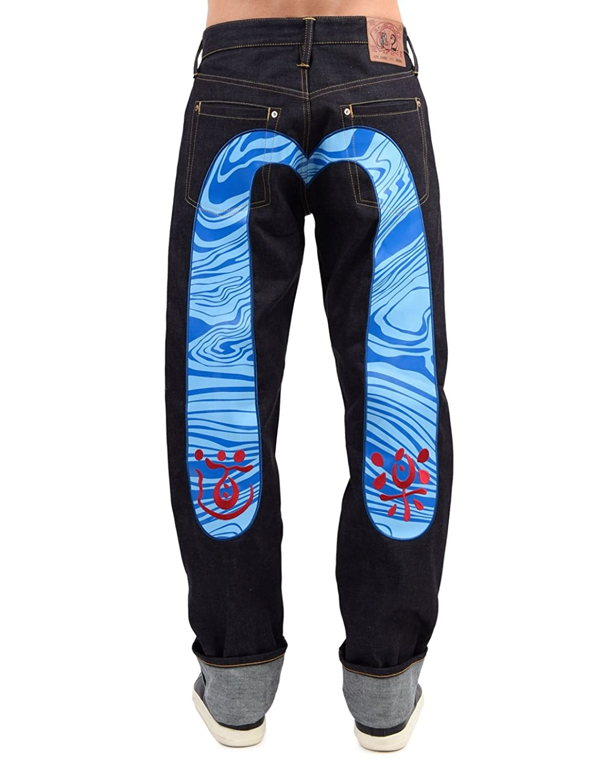 2000 Loose Fit Waved Daicock & Red Dowluck Selvedge Denim Jeans