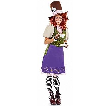 Fun Shack Púrpura Sombrerero Loco Disfraz para Mujeres - L: Amazon ...