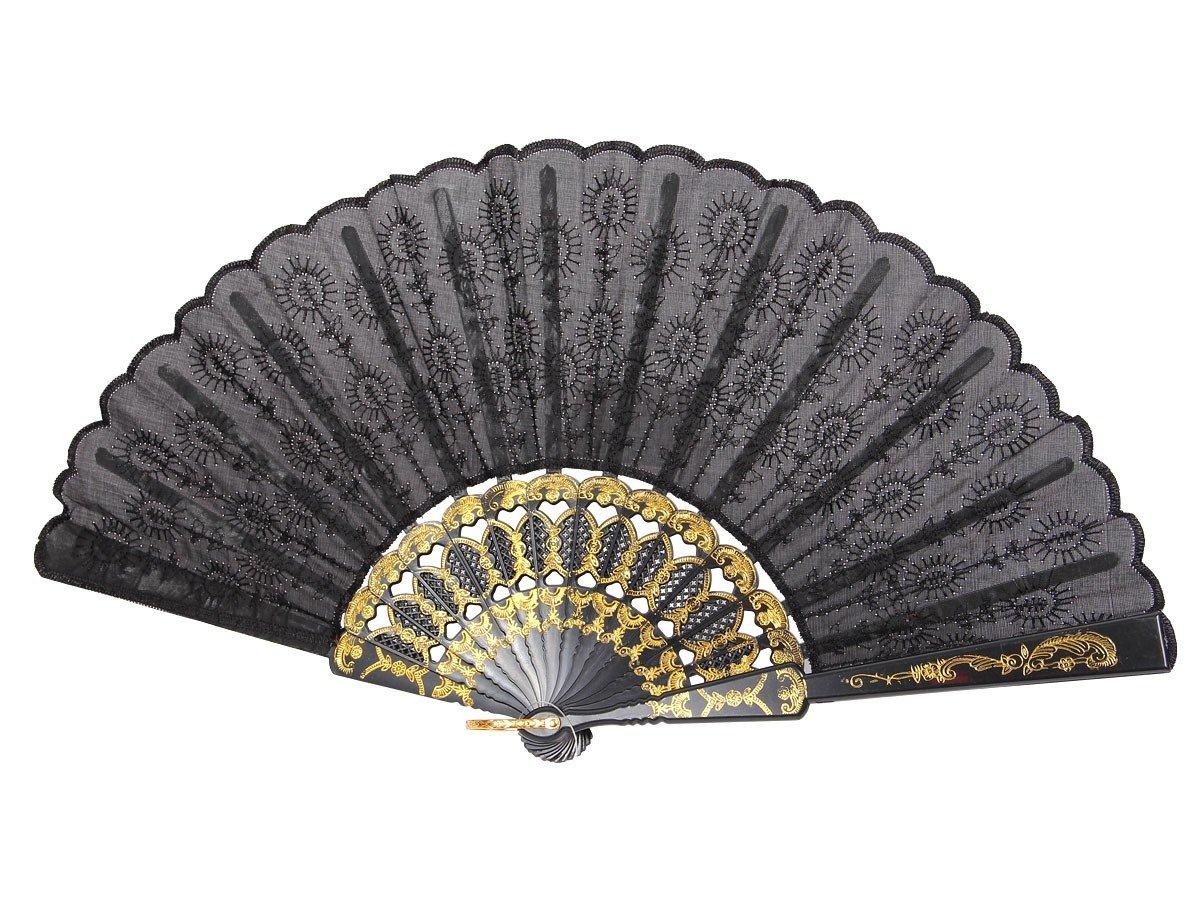 Boland 00509 - Fächer Granada, circa 25 cm, schwarz
