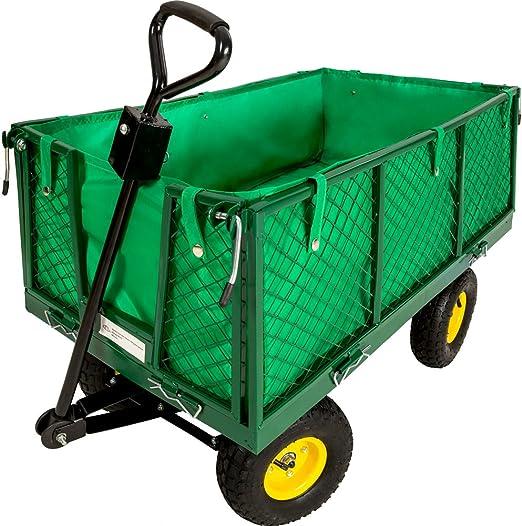 TecTake Carro de transporte carretilla de mano de jardin construccion max. carga 550 kg: Amazon.es: Jardín