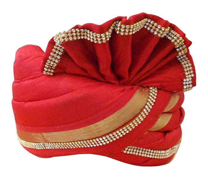 Traditional Handmade Banarasi Silk Men Hat Sherwani Groom Turban ... 357f7eb2416