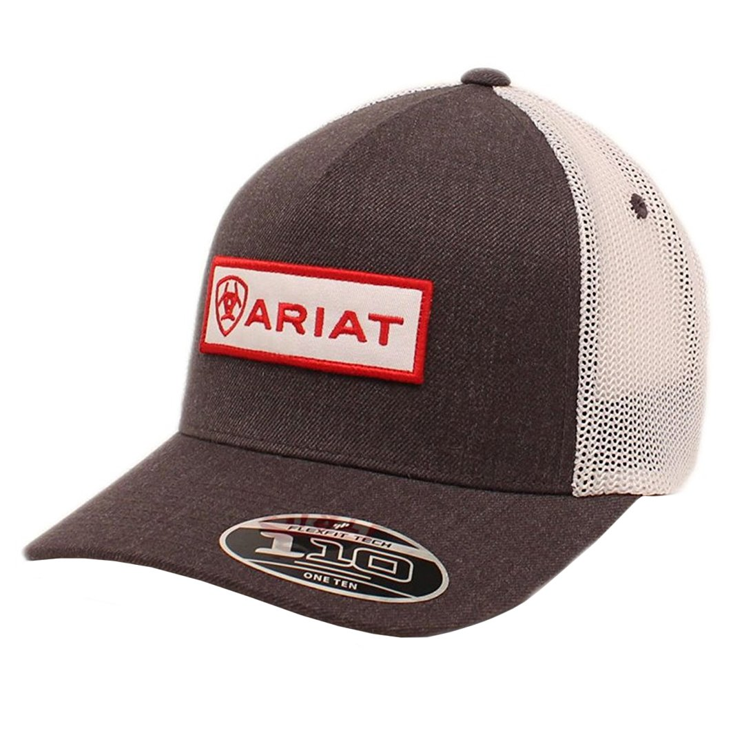 Ariat Men's 5-Panel Center Name Patch Flex 110, Gray, One Size