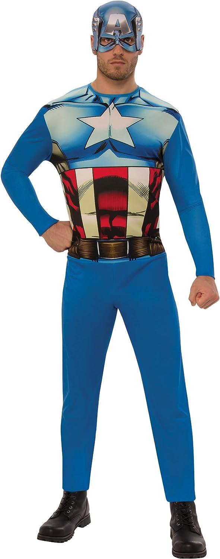 Marvel - Disfraz de Capitan América para hombre, Talla XL adulto ...
