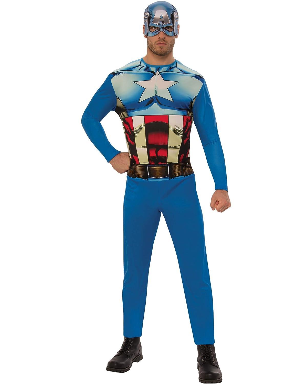 Marvel - Disfraz de Capitan América para hombre, Talla XL adulto (Rubies 820955-XL)