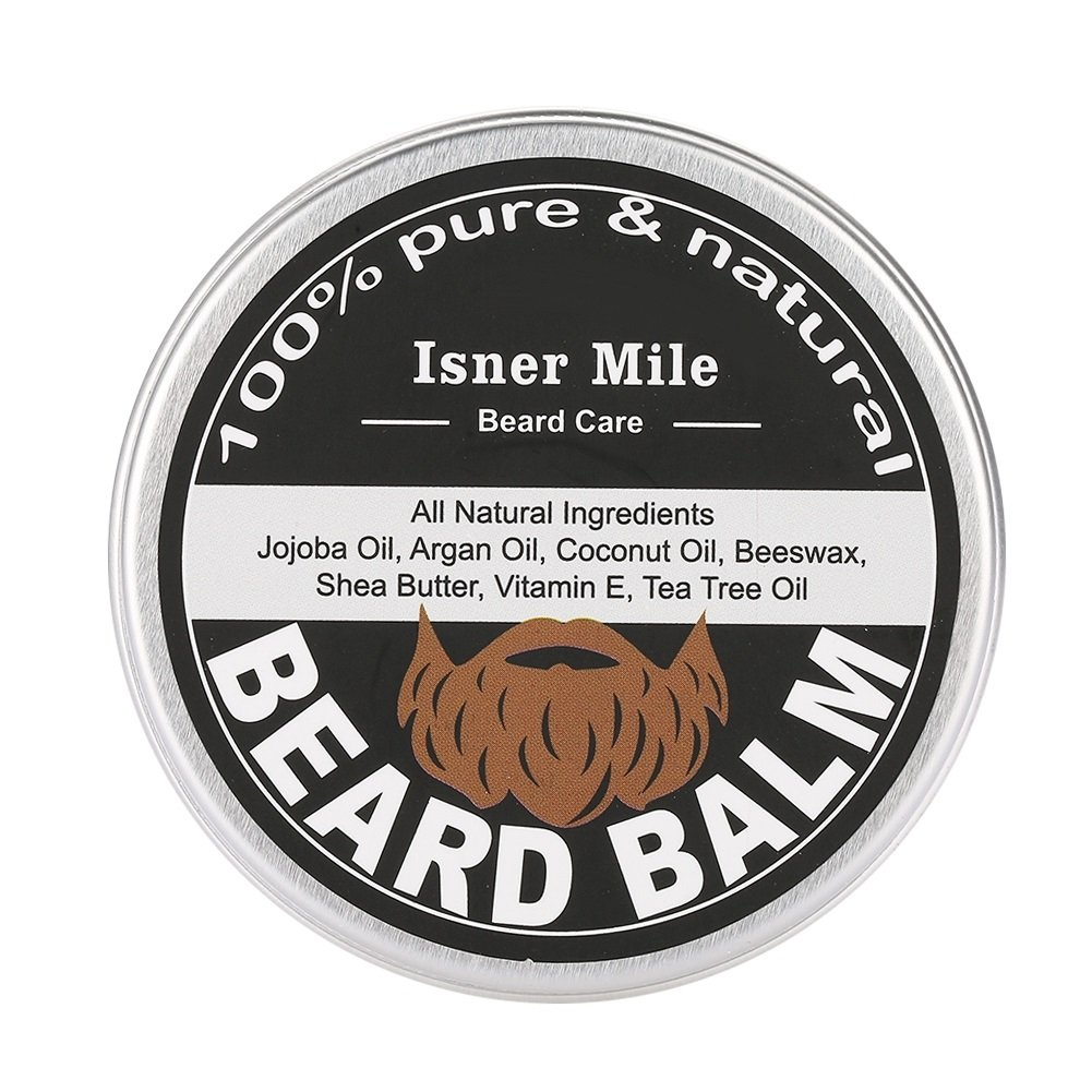Beard Balm - Mens Beard Grooming Balm Mustache Moisturizing Wax Shaving Care with Jojoba Oil Dewin