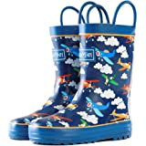 Toddler Rain Boots for Kids - CasaMiel Unisex Kids Rain Boots for Boys and Girls, Handmade Natural Rubber Rain Boots for Chil