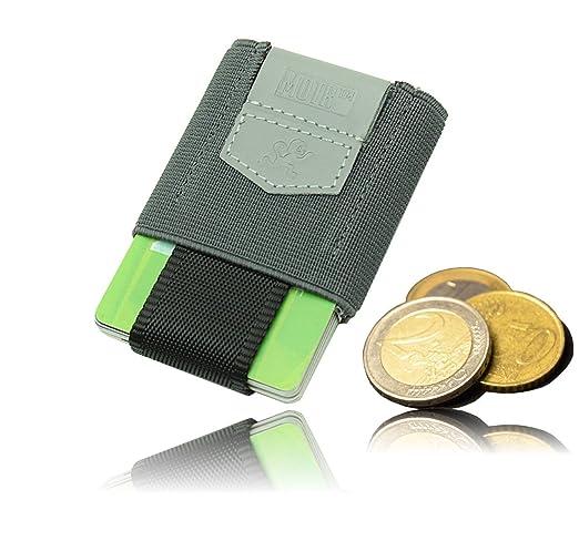 Premium Slim Wallet Mit Zugband Münzfach Das Dehnbare Kartenetui