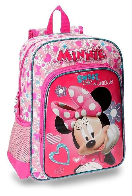 Disney 28923A1 Minnie Fabulous Mochila Escolar, 38 cm, 13.22 Litros, Rosa