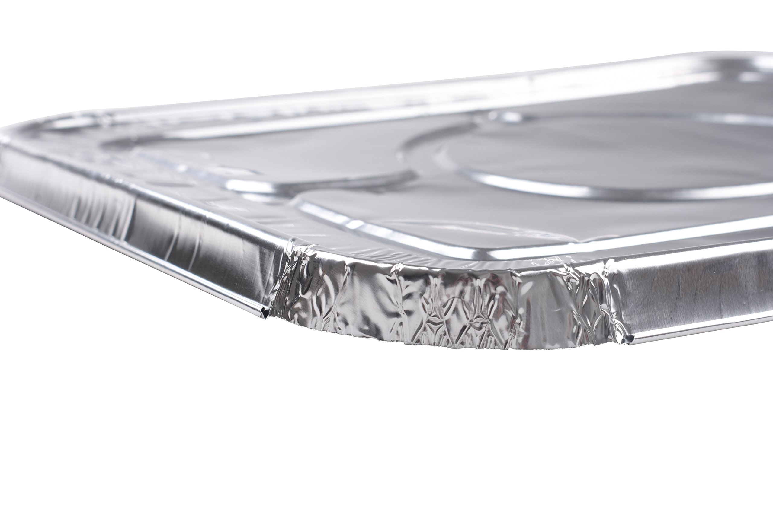 A World of Deals 9 X 13 Half Size Deep Foil Steam Pans with Lids, 30 Pack by A World Of Deals (Image #4)