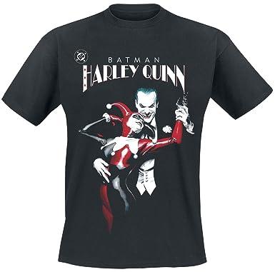 Camiseta Harley Quinn & Joker de manga corta de DC Comics (Negro)