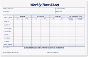 TOPS Weekly Employee Time Sheet, 8.5 x 5.5 Inches, 100 Sheets per Pad, 2 Pads/Pack (30071) - Purple; White