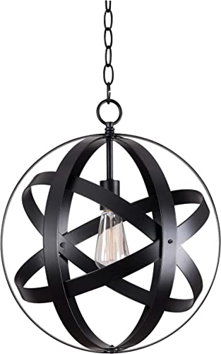 Kenroy Home 93551BLK Global 1 Light Pendant