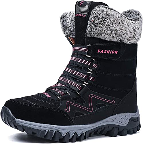 Veool Womens Winter Snow Boots Anti-Slip Waterproof Outdoor Hiking Warm Ankle Shoes