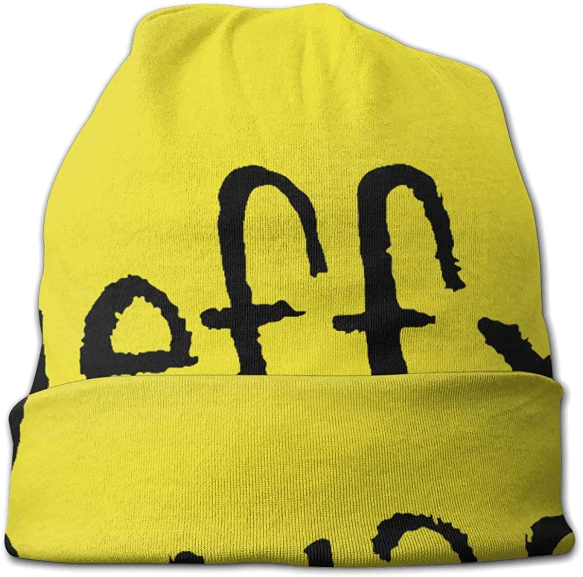Jeffy Beanies for Guys Fashion Knit Hat for Unisex Novelty Gift Black Cap Hedging Hat