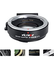 VLTROX EF-EOS M2 0.71x Focal Reducer Speed Booster Lens Adapter Auto Focus for Canon EF mount Lens to Canon EOS M M2 M3 M5 M6 M10 M50 M100 Cameras