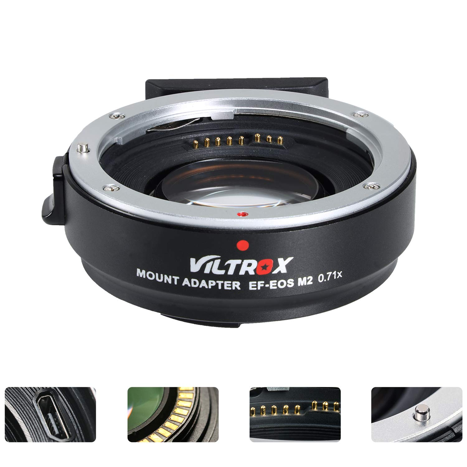 VILTROX EF-EOS M2 Lens Adapter 0.71x Speed Booster for Canon EF Lens to EOS EF-M Mirrorless Camera M3 M5 M6 M10 M50 M100 AF Auto Focus Reducer by VILTROX