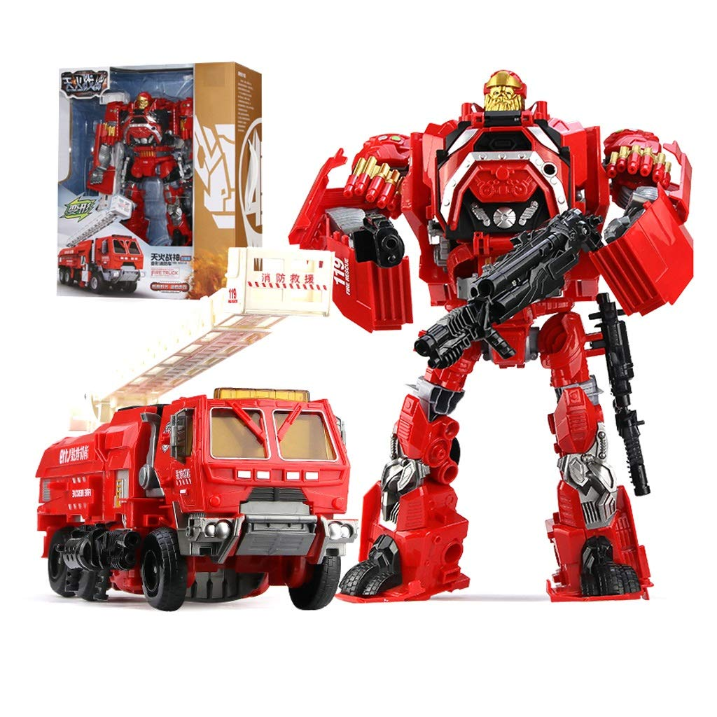 Hero-Rettungsroboter, Kinder-Verformungsspielzeug, Feuerwehrauto-Sound- und Lichtmodell (rot) (Style   1) B07MQ4V95C Kinderwagenspielzeug Einzigartig | Einzigartig