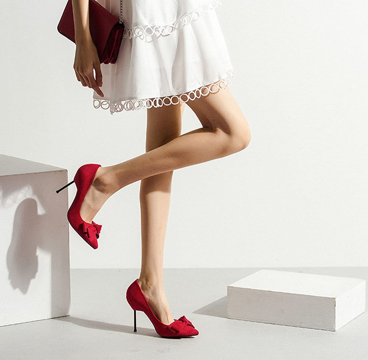 ZPFME Damen Elegante Elegante Elegante Stiletto High Heels Neue Damen Bow Smart Spitzschuh Party Pumps 659d83