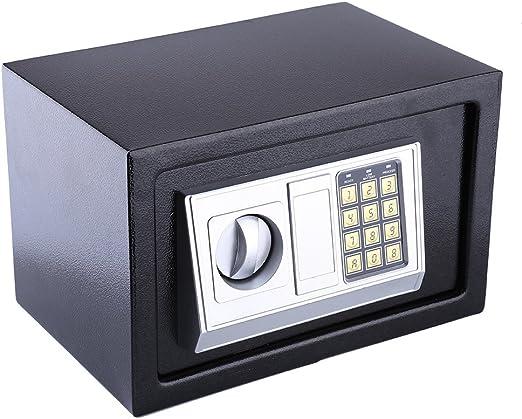 GOTOTO - Caja Fuerte electrónica con combinación 8.5Lcaja Fuerte de Pared Digital electrónica Segura, Caja Fuerte pequeña de móvil, 20 x 31 x 20 cm, 4 Pilas AA, Color ...