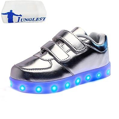 (Present:kleines Handtuch)Schwarz EU 27, Unisex mode Kinder leuchten JUNGLEST® Charing Klettverschlu