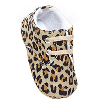 Amazon.com : Aivtalk Baby Toddler Soft Sole Moccasins Prewalker Fashion Leopard Printed Walking Shoes Size 16 : Baby