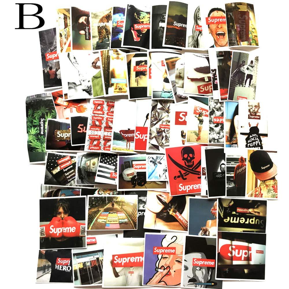 81bd3f384af Amazon.com  Graffiti Sticker Cool Decals Vinyls Stickers Supreme Tide Brand  Skateboard Waterproof Car Stickers Trolley Case Bumper(100PCS) (B)   Computers   ...