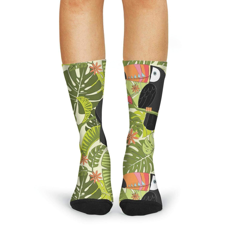 Women's funny Toucan birds compression novelty socks cutebaseball calf socks Fyuinbdm