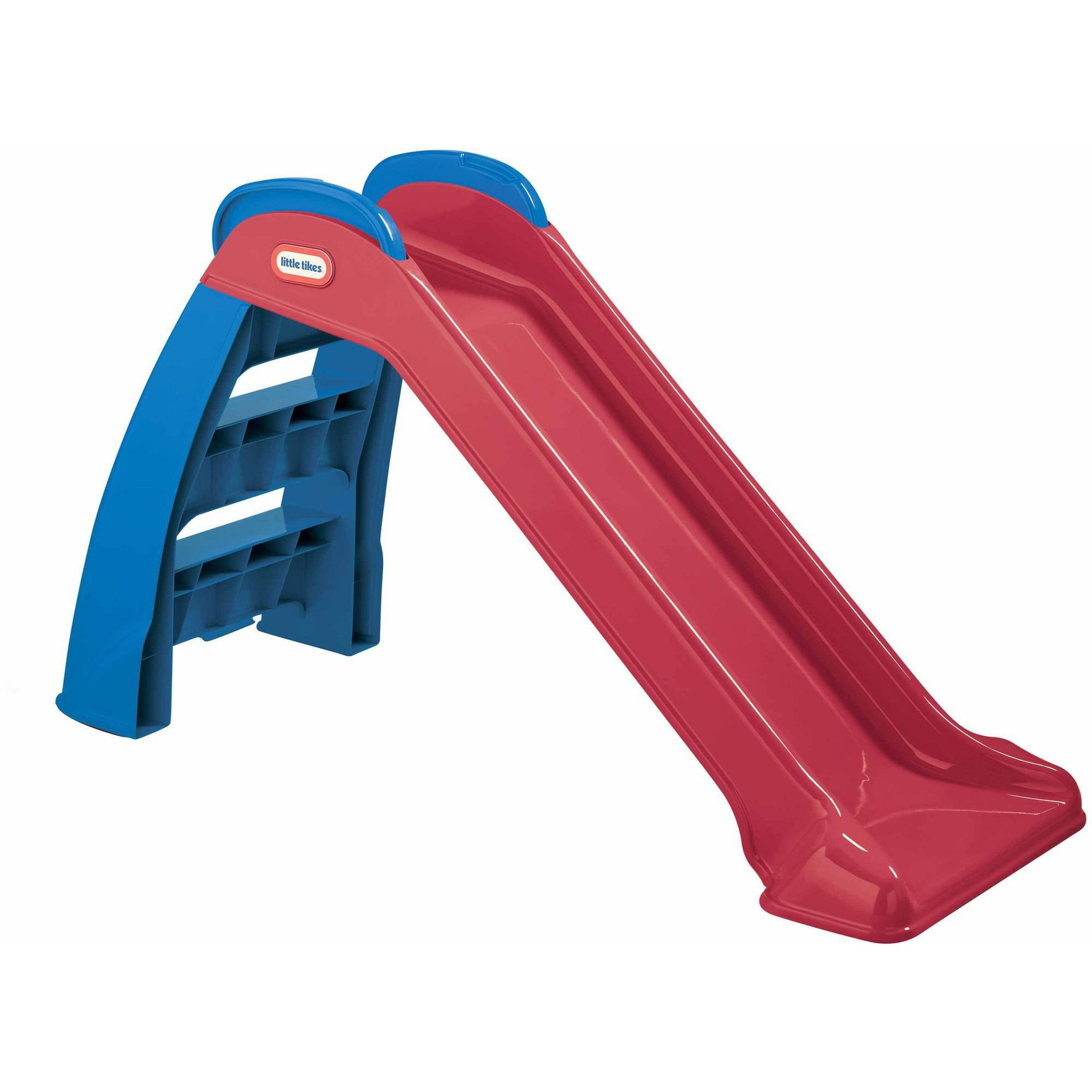 Toddler Slide And Climber Indoor Outdoor Climbers Slides For Toddlers Folds For Easy Storage Infant Climbers Kids Playground Backyard Fun Toys Plastic Folding NEW