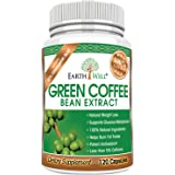 Green Coffee Bean Extract - Best Natural Weight Loss Supplement and Appetite Suppressant - Burn Fat Faster with Premium Quality Dietary Pills - 50% Chlorogenic Acid - 800mg - Pure and Clinically Proven - 120 capsules