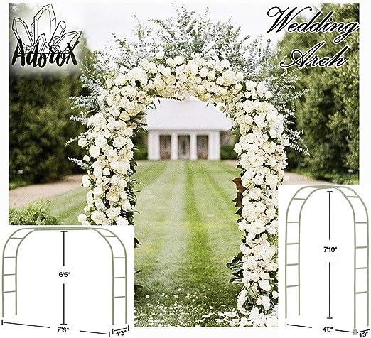 Adorox 7, 5 m Blanco Metal Arco para jardín de Novia Partido ...