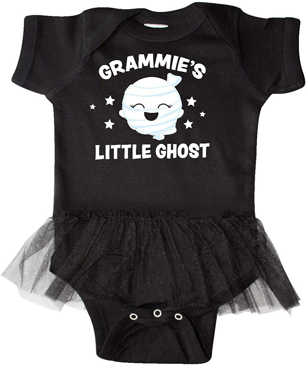 inktastic Cute Grammies Little Ghost with Stars Infant Tutu Bodysuit