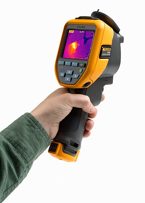 Fixed Focus Fluke TIS20 9HZ Thermal Infrared Camera with 3 IR-Fusion Blending Modes 120x90 Resolution Voice Annotations