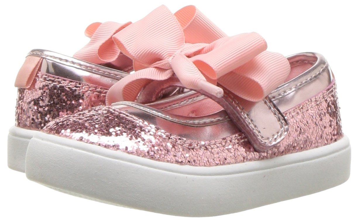 Carter's Girls' Alberta Bow Mary Jane Flat, Pink, 3 M US Little Kid by Carter's (Image #6)
