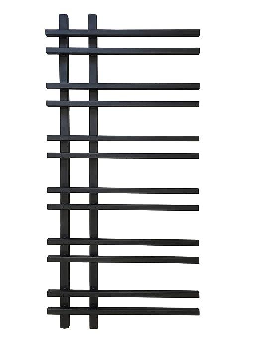 Diseño baño Radiador VENTO Negro 1200 x 550 mm.calentador toallas