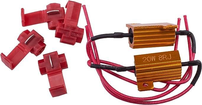 What size resistor for led lights