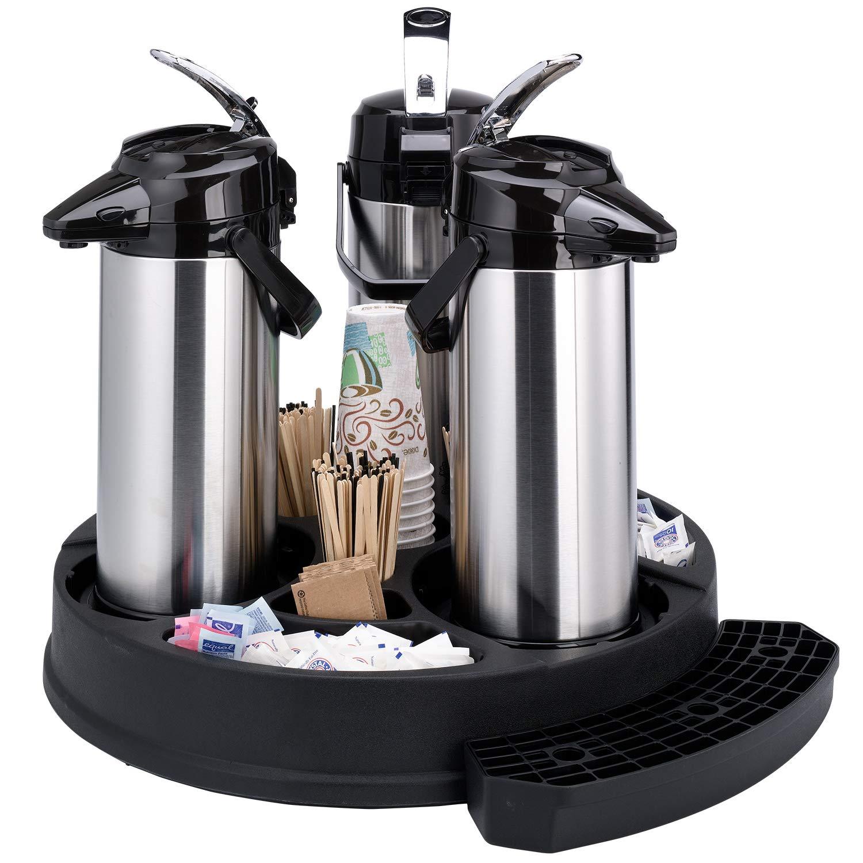 Service Ideas RRAP3BLK Roto Rack Airpot, Plastic, 3 Pot, Black by Service Ideas (Image #2)