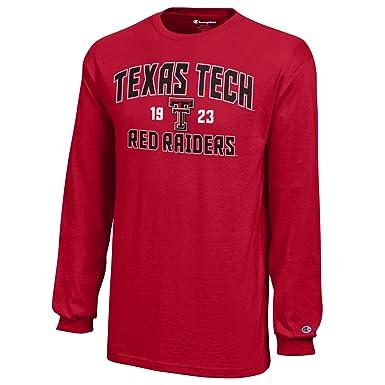 new style a0667 8d13d NCAA Champion Boy's Long Sleeve Jersey T-Shirt Texas Tech Red Raiders Medium