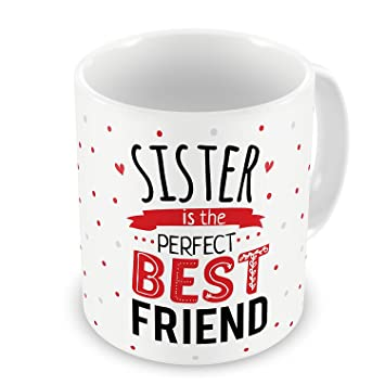 Buy Rakhi Gift For Brother Sister Siblings Cousin My Perfect Best White Printed Quality Ceramic Mug Quirky Bhaidooj Birthday Everyday Gifting