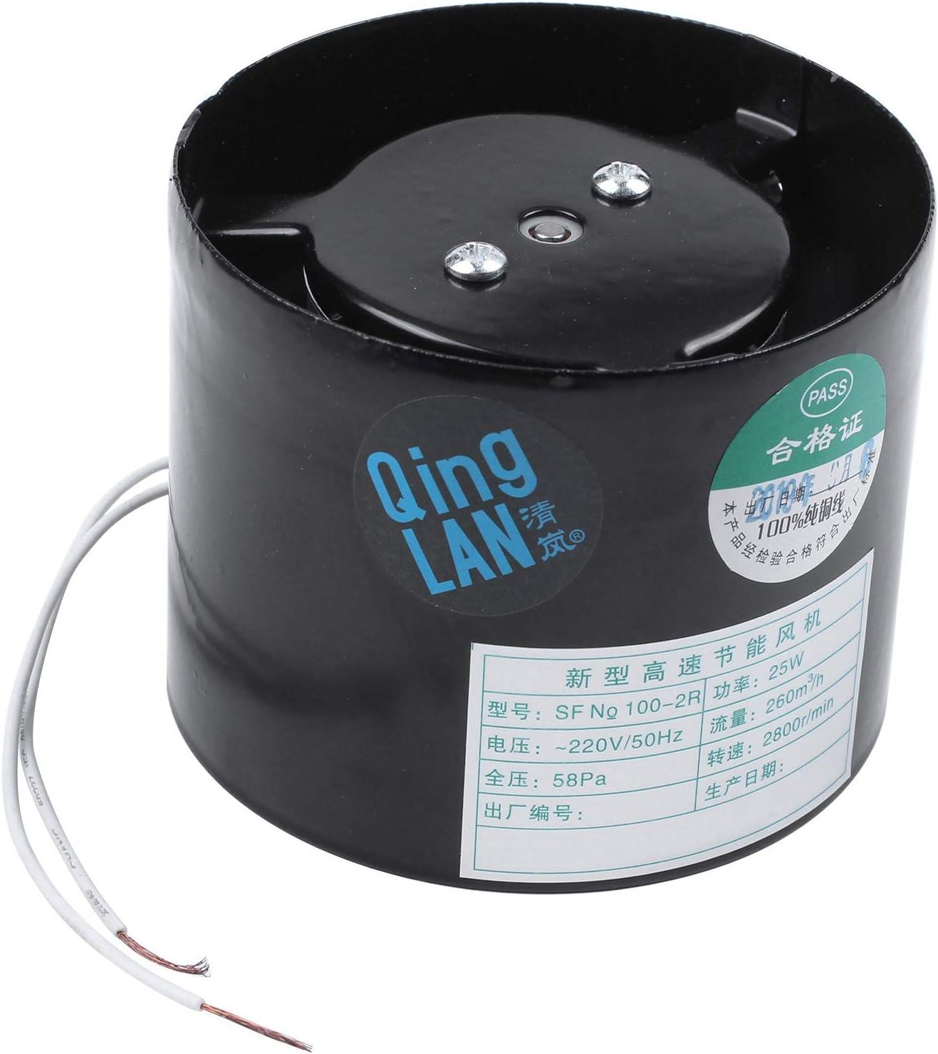 NO BRAND Tuneway Ventilador de Conducto en L/íNea de 4 Pulgadas Ventilador de ire Ventilador de Tubo de Metal de Extracci/óN Ba?o Inodoro de Pared ccesorios para Ventilador de Conducto 220V Negro