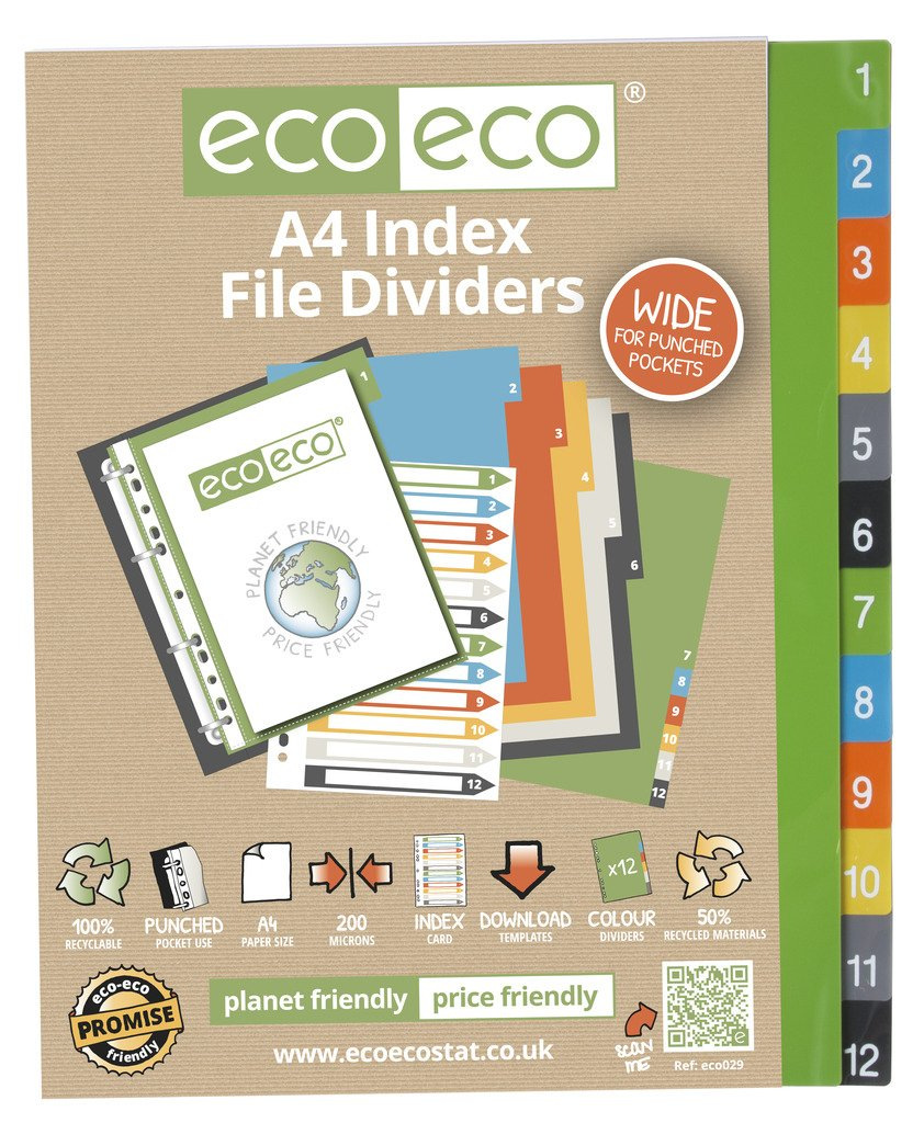 A-Z Indices//Dividers Recycled A4 or A5