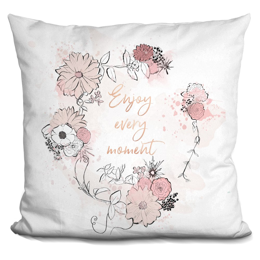 LiLiPi Enjoy Every Moment Decorative Accent Throw Pillow