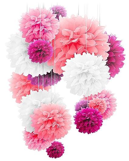 20 pcs tissue paper pom poms bridal shower decorations kids shower decorations vintage