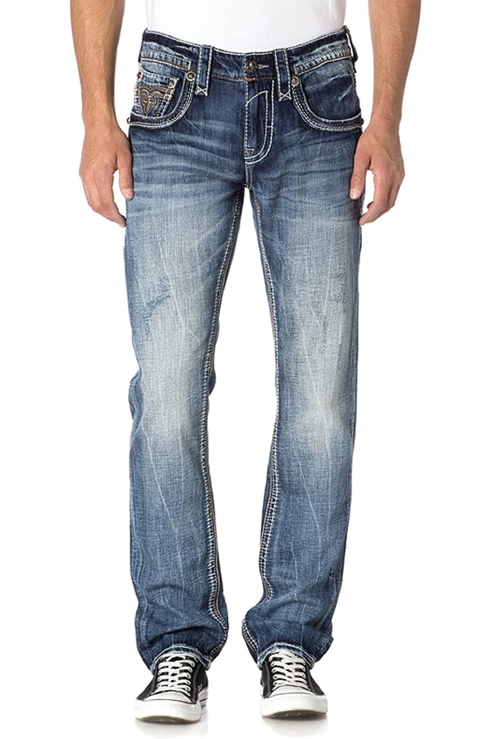 ROCK REVIVAL MENS VIETIA A204 ALT STRAIGHT CUT JEANS Waist 42 Length 34