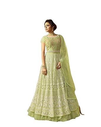 a88e2ba6b Amazon.com  Delisa Indian Pakistani Wear Anarkali Suit and Party Wear Suit  for Women  Clothing