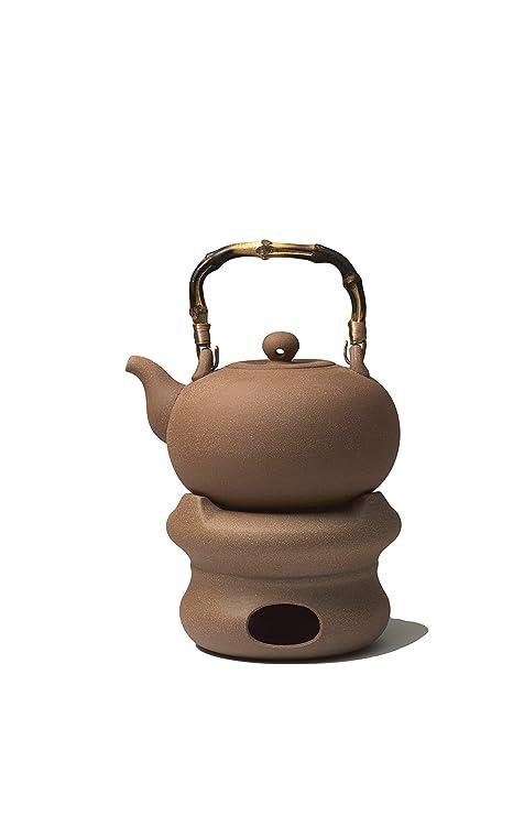 TEA SOUL Té Alma Lin de cerámica Studio eléctrica y Unadjustable Estufa Set en PURION Arcilla