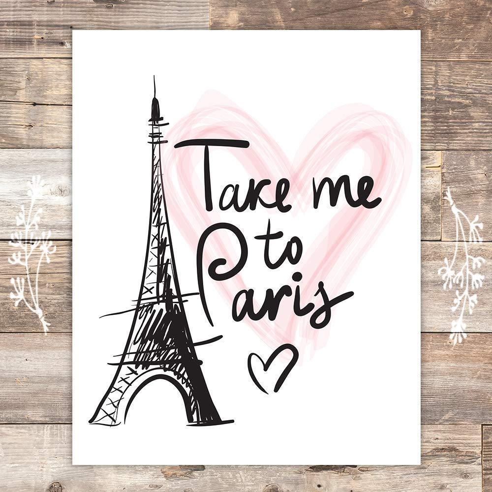 Paris Wall Art Print - Unframed - 8x10 | Eiffel Tower Decor