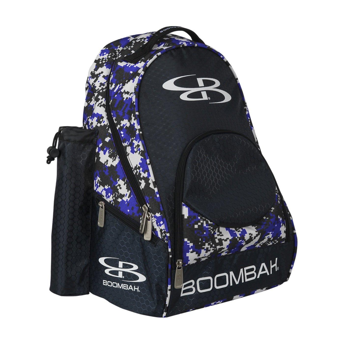 (ブームバー) Boombah Tyroシリーズ 野球/ソフトボールバットが収納できるバックパック 20x 15x10インチ 迷彩柄 20色展開 2-3/4インチまでのバットを2本収納可 B01N43EP6Q ブラック/ロイヤル(royal) ブラック/ロイヤル(royal)