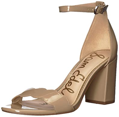 9eb3a6af000 Sam Edelman Women s Odila Ankle Strap Sandal Heel Classic Nude Patent 4 ...