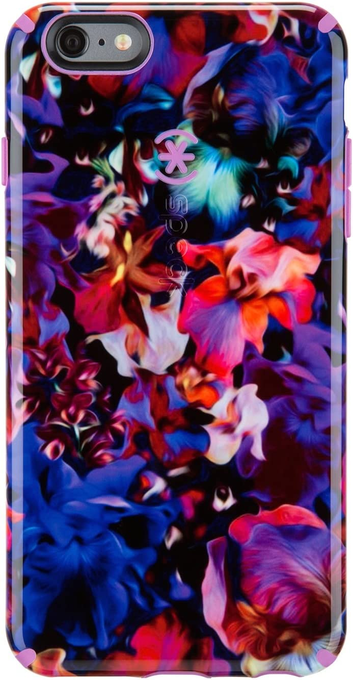 Speck Products CandyShell Inked Carrying Case for iPhone 6 Plus - Retail Packaging - Lush Floral Pattern/Beaming Orchid