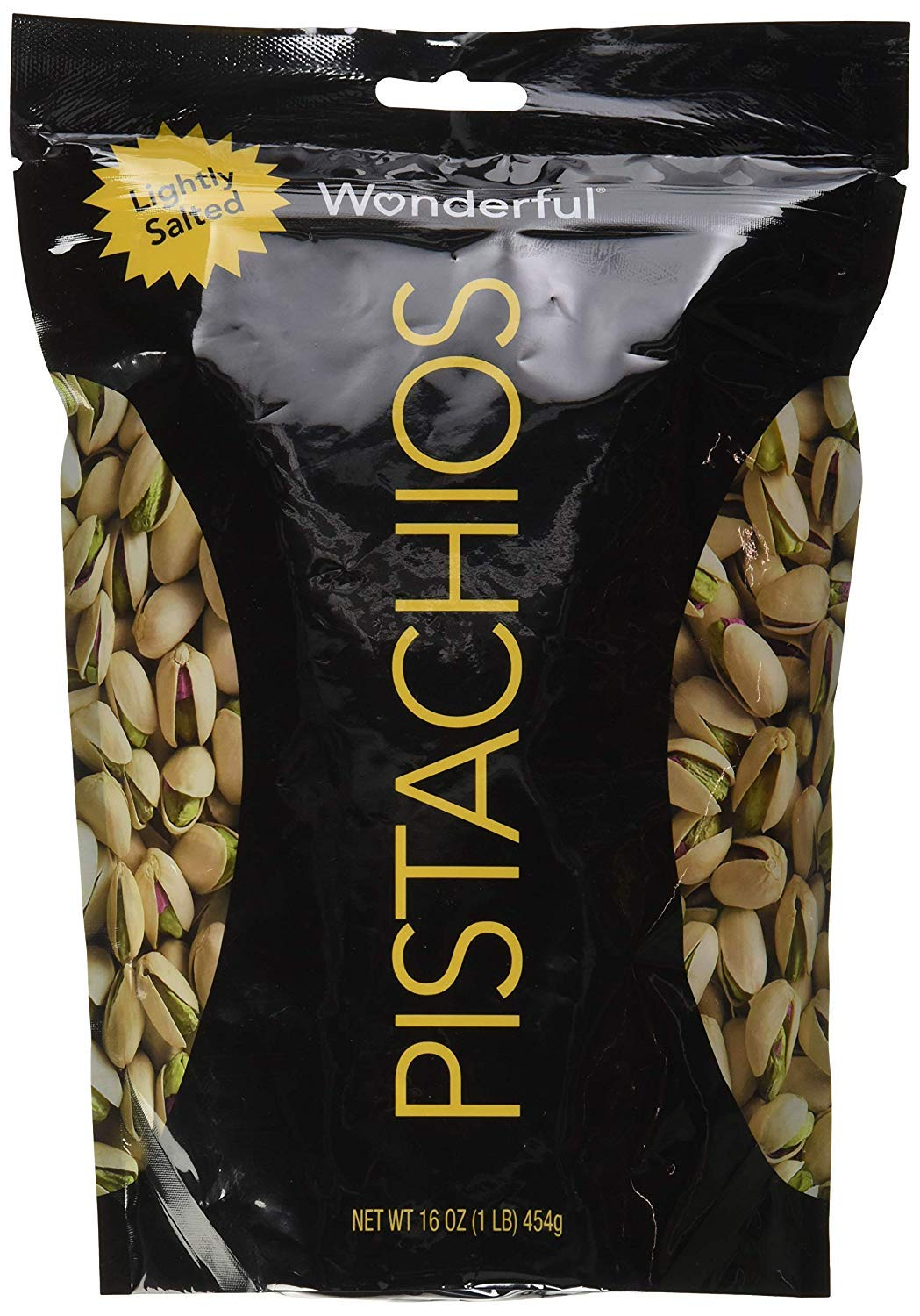 Wonderful Pistachios Roasted &, Resealable Bag, Lightly salted, 16 Oz